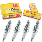 4pcs Moto Guzzi V-35 IMOLA NGK Standard Spark Plugs 350 Kit Set Engine nr