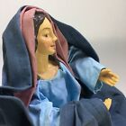 Lillian Vernon Virgin Mary Creche Nativity Christmas Fabriche Fabric Mache Vtg