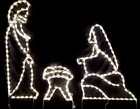 NEW Medium Christmas Nativity Outdoor LED Lighted Decoration Steel Wireframe
