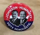 Johnson Humphrey Political Button