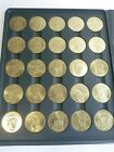 1990 Bandai Sport Stars Collector Master 50pc Solid Brass Coin Set MLB w COA