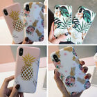 F Iphone 8 Plus 7 Plus XS Max XR 6S Floral Pineapple Girls Cute Phone Case Cover