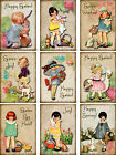 9 EASTER SPRING CHILDREN RETRO JOY HANG GIFT TAGS FOR SCRAPBOOK PAGES 19