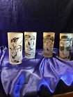 Vintage Gay Fad Frosted Drinking Glasses