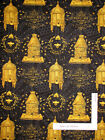 Bumble Bee Hive Garden Words Cotton Fabric Wilmington Bees Life 11 Yards