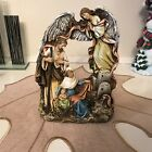 Josephs Studio by Roman A Nativity Scene with a Gloria Angel Watching Over