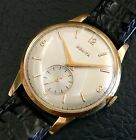 Vintage Zenith 18K Yellow Gold Large Men's Watch Swiss Made