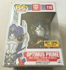 Funko Pop Hot Topic Exclusive Transformers OPTIMUS PRIME with Sword Damaged Box