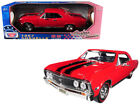 1967 Chevrolet Chevelle SS 396 Red with Black Stripes 1 18 Diecast Model Car