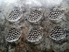 6 Clear Glass Grape Cluster Individual Serving Dishes Nuts Fruit Cheese Bon Bon