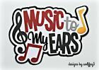 CRAFTECAFE MUSIC BAND TITLE paper piecing premade scrapbook page diecut WOLFFEY5