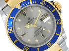 Rolex 16613 40MM 18K/SS TwoTone Submariner Date Watch Slate Serti F series
