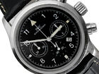 IWC Der Fliegerchronograph Stainless Steel 36mm Watch Black Dial * Must See*