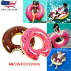 Kids Adults Inflatable Giant Donut Swimming Ring Float Pool Tube Huge Swim Ring