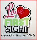 CRAFTECAFE MINDY LOVE BABY WEDDING DIECUT premade paper piecing TITLE scrapbook