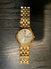 citizen eco-drive mens gold watch 790268 - small scratch on crystal