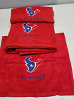 Houston Texans Football Bath Towel Set, Personalized Football Sports Team Bath