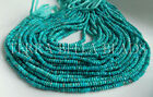 65 AAA Sleeping Beauty TURQUOISE faceted gem stone rondelle beads 3mm blue