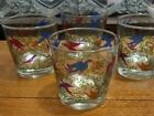 4 Libby Glasses Mid Century Modern Colorful Birds