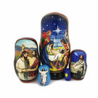 Nativity Doll Hand Painted 5 Nested 4 1 4