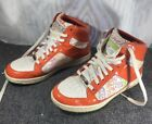 COACH Norra Orange Leather Textile High Tops Sneakers Womens Size 75