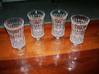 Mid-Century Cut Crystal Footed Water Ice Tea Goblets Set Of Four 4