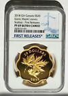 2018 Canada S$20 Gold Gilt Iconic Maple Leaves Scallop NGC PF69 UC First Release