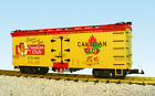 USA Trains G Scale US REEFER CAR R16384 Canadian Club Cigars yellow red