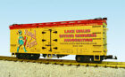 USA Trains G Scale US REEFER CAR R16386 Royal Arms yellow red