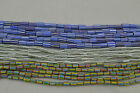 15 STRANDS ASSORTED COLORFUL CHEVRON GLASS BEADS