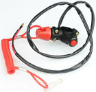 7/8'' Motor ATV Handlebar Mount Engine Stop Switch W/Flexible Recoil Cord Tether