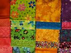 Huge Lot 20 Fat Quarters Fabric 100 Cotton Quilt Sew Bold Bright Summery