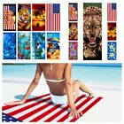 Cotton Beach Towel 28x58 Quick Fast Dry Super Absorbent for Pool Swimming Bath