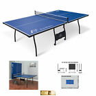 Ping Pong Table Tennis Folding Tournament Size Game Set Indoor Sport Room Wheels