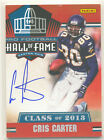 2013 Treasures Hall of Fame Class of 2013 #2 CRIS CARTER AUTO SET BREAK VIKINGS