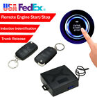 Car Auto Alarm Security Keyless Entry Push Button Remote Engine Start PKE Kit