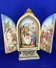Vintage JOSEPHS STUDIO by ROMAN Nativity Shadow Box Wall Hanging Panorama m17