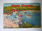 Vintage 1947 Fold Out Silver Springs Florida Postcard Booklet 18 Images Unused