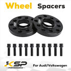 2 15mm 5x100 5x112 Hubcentric Wheel Spacers Adapters for VW Audi 571mm Bore