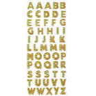 1 Sheet Glitter Alphabet Letter Stickers Self Adhesive ABC A Z Words Sticks NEW