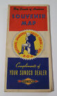 1950 Boy Scout National Jamboree Valley Forge Souvenir Map Sunoco 5 maps in 1