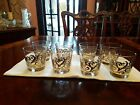 8 Libbey Silver Scroll Double Old FASHIONED TUMBLERS