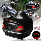 Large Capacity Motorcycle Trunk Tail Box SaddleBags W/Taillight Turning Light