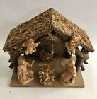 Fontanini Nativity Set Depose Italy Spider Mark 1983 5 Figures + Manger