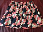 NWT Juicy Couture Silk Floral Flouce Mini Skirt Sz S