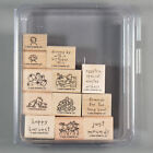 Stampin Up Loads of Love Accessories Set of 12 Rubber Stamps for Truck