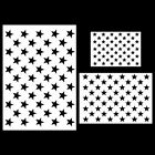 Star Stencil Drawing  Lettering Aids Template 50 Stars American Flag 8 Pcs