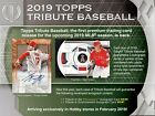 2019 Topps Tribute Baseball Hobby Box Preorder