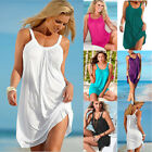 Womens Summer Holiday Beach Loose Bikini Cover Up Boho Ladies Swing Sundress US