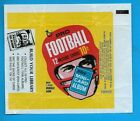 1969 Topps Football card wax pack wrapper. 10 cents. Mini card album insert.